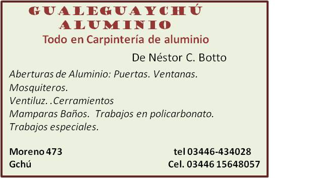 Gualeguaych aluminio todo en carpinteria de aluminio for Carpinterias de aluminio en argentina