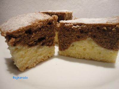 Ciasto piaskowe z kakao i cytryną
