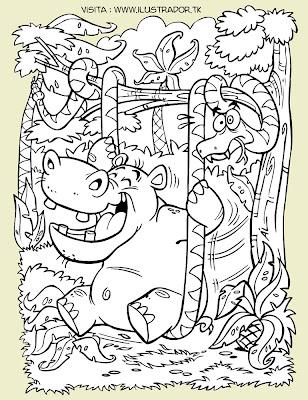 Conciencia Ecologica Universal: Dibujos de animales para pintar ...