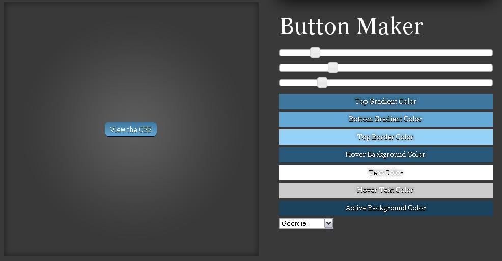 Online CSS3 button maker