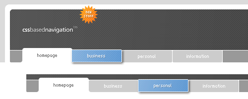 jQuery style menu with CSS3