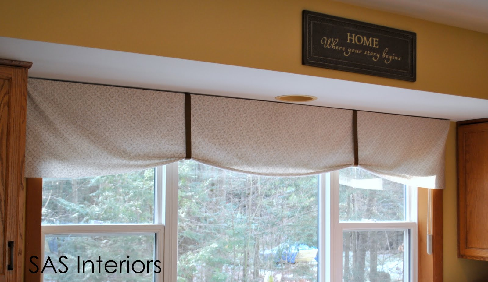 Simple Kitchen Valance diy: kitchen window valance - jenna burger