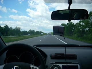 La ruta del lado de la Provincia de Ontario
