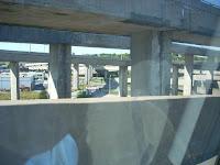 El nudo vial de Turcot tomado desde el auto