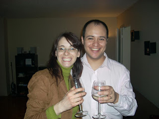 Christian y Laura estrenando país