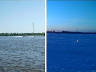 Izquierda es verano, la de derecha tomada por Adrian ahora en invierno