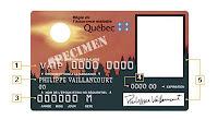 Ejemplo del carne de salud de Québec