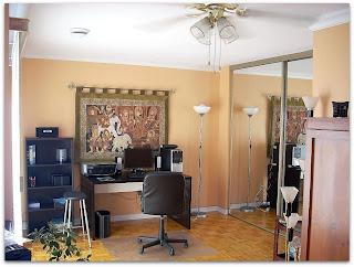 Dormitorio de huéspedes y estudio