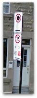 No detenerse hasta acá + Prohibido estacionar a partir de acá
