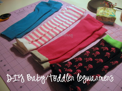 diy infant/toddler legwarmers