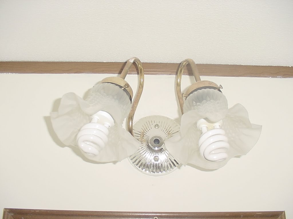 My commentary and technical help bathroom light fixtures on ebay i needed 2 of them for my bathrooms but used a third for the kitchen i took that one apart and removed the arms so the fixtures fastened onto the back aloadofball Images
