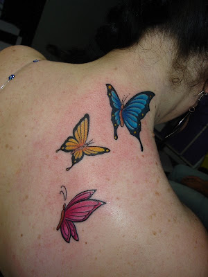 Tattoos On Collar Bone. Butterfly Tattoo