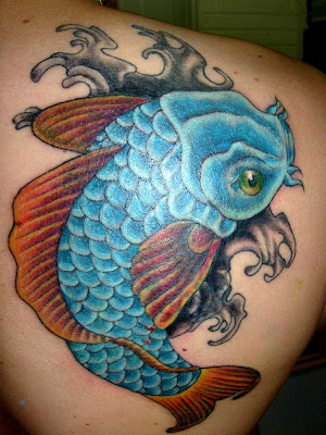 koi carp tattoo. Labels: carp, fish tattoo,