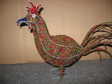 Wire and Bead Rooster