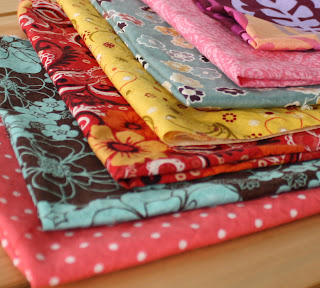 summer fabrics linings bright color print cotton handmade zipper pouches