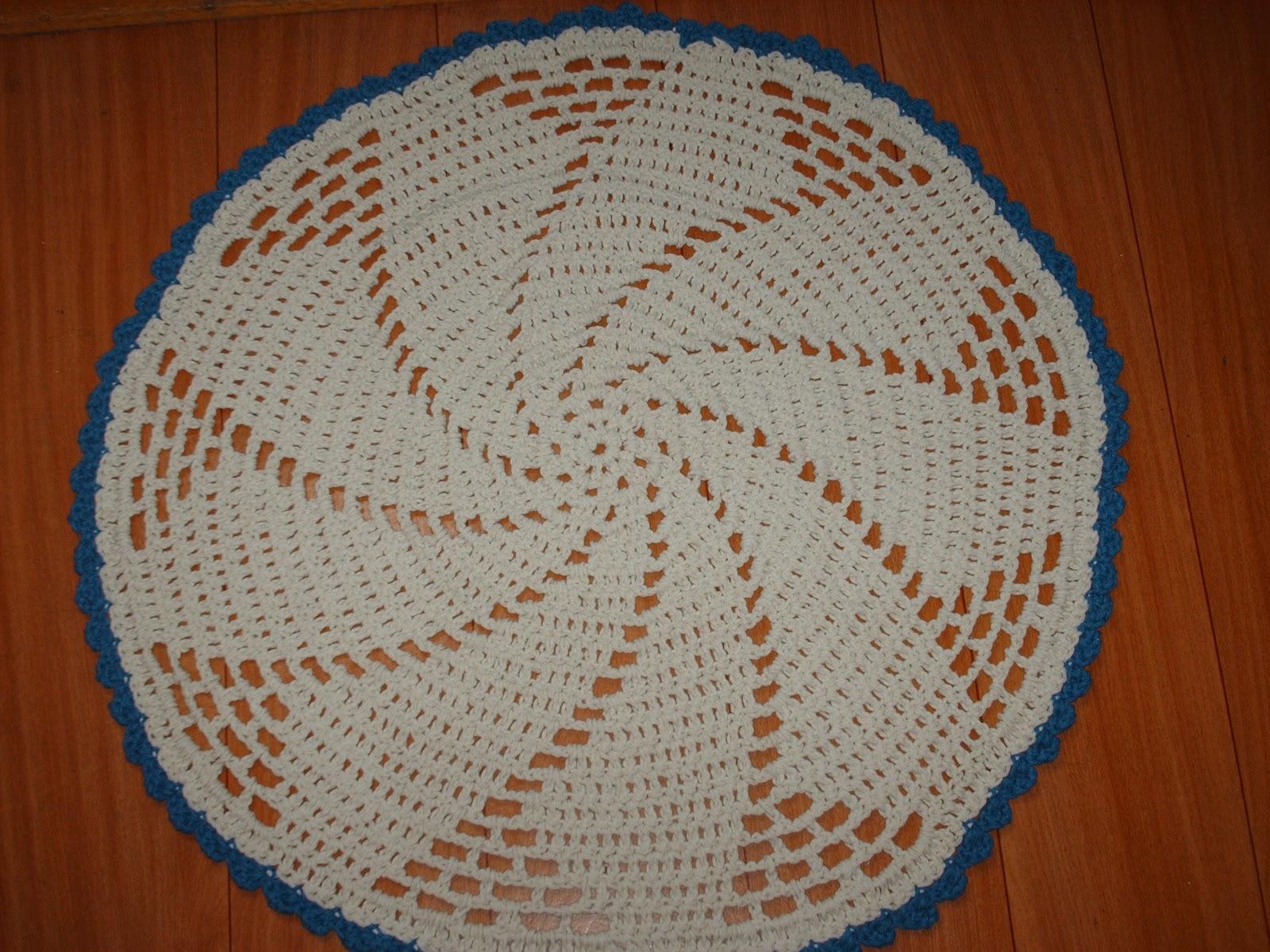 Armario Retro Cozinha ~ marcia g artesanato Tapete em croch u00ea redondo R$ 24,00