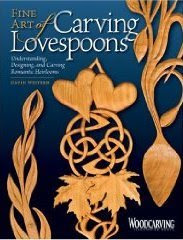 Book cover entitled Fine Art of Lovespoon Carving by David Western