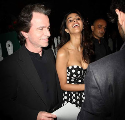 Mallika Sherawat and Yanni bond at Ivy restaurant