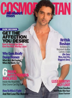 Hrithik Roshan graces the cover of Cosmopolitan Magazine