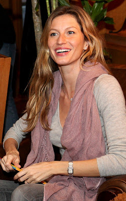Gisele Bundchen at the Four Seasons' hotel Teddy Bear Tea