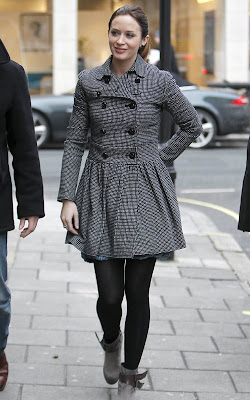 Emily Blunt at BBC Radio One Studio in London