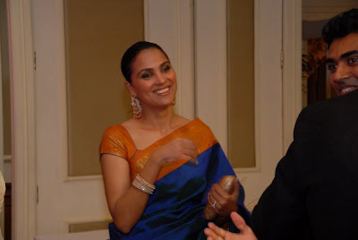 Lara Dutta with fiance Mahesh Bhupati at an Engagement Pics