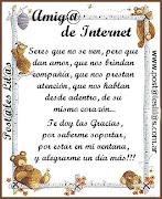 """PREMIO """"AMIGA DE INTERNET"""""""