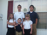 All five kids - 1st Day of School