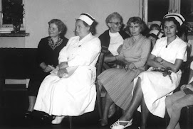 1961: Warsaw, Nursing School, during the ceremony of graduation.