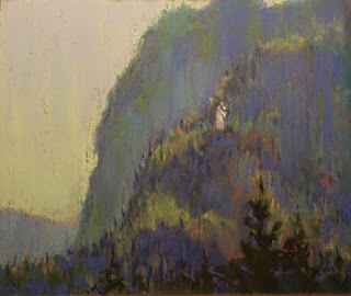 pastel plein air quebec fjord Our Lady Saguenay soft pastels