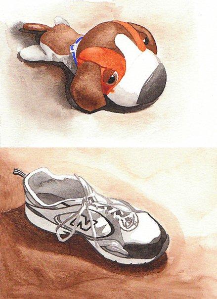 Still life studies in watercolor / Spring 2008 by Oniel J Antommarchi II