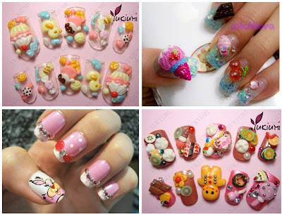 Hello Kitty Nails! Many cool designs! Wedding Nails!