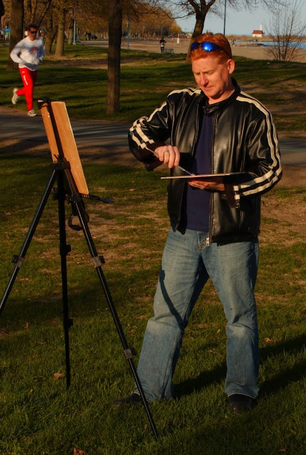 Andrew Hamilton Plein Aire Painting