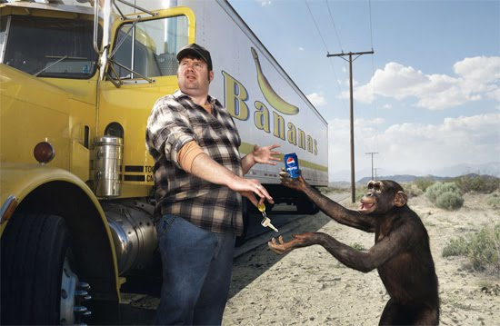 pepsi monkey Award Winning Images of Fun Advertising Campaigns