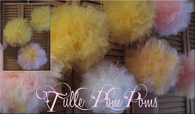  tulle pom poms