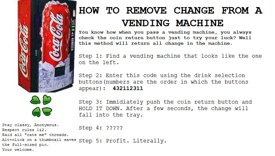 vending machine tricks coin