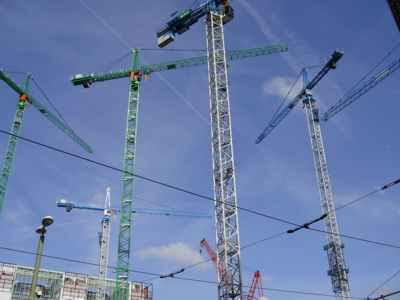 nieuwbouw Ministeries Binnenlandse Zaken & Justitie en toren de Kroon in Den Haag
