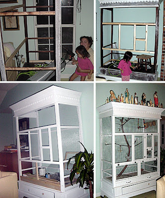 DIY: From Armoire To Aviary