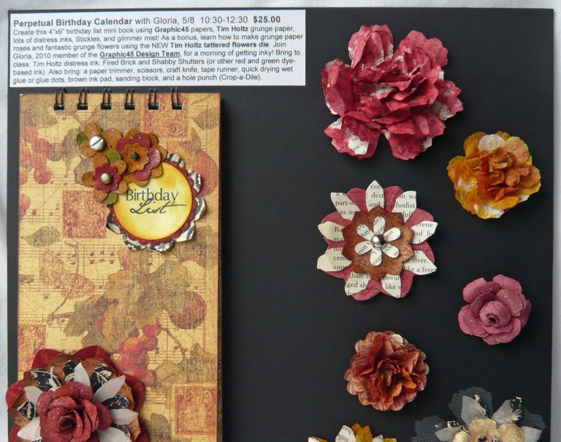 scraps of life perpetual birthday calendar class sample
