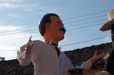 I think this might be supposed to be the president, Rafael Correa, but I don't know. Correa doesn't have a mustache...