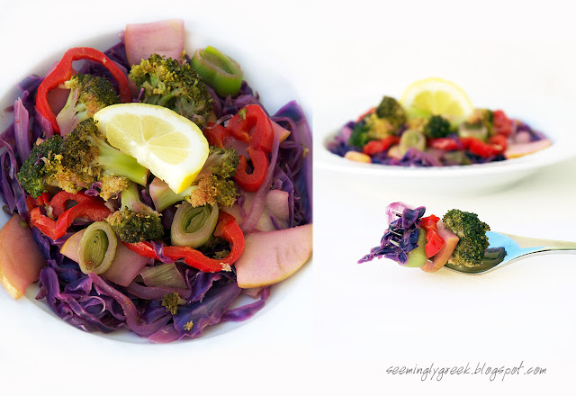 double salad Colorful Winter Salad