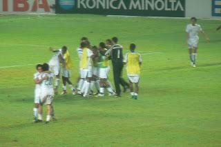 Saudi players celebrate dramatic win