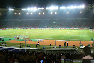 Gelaro Bung Karno Stadium almost an hour before kick-off
