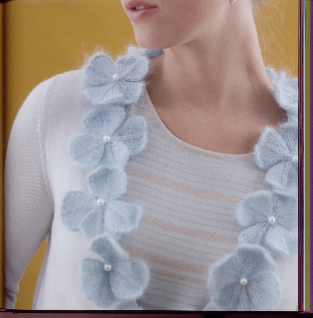Цветы вязание спицы 37