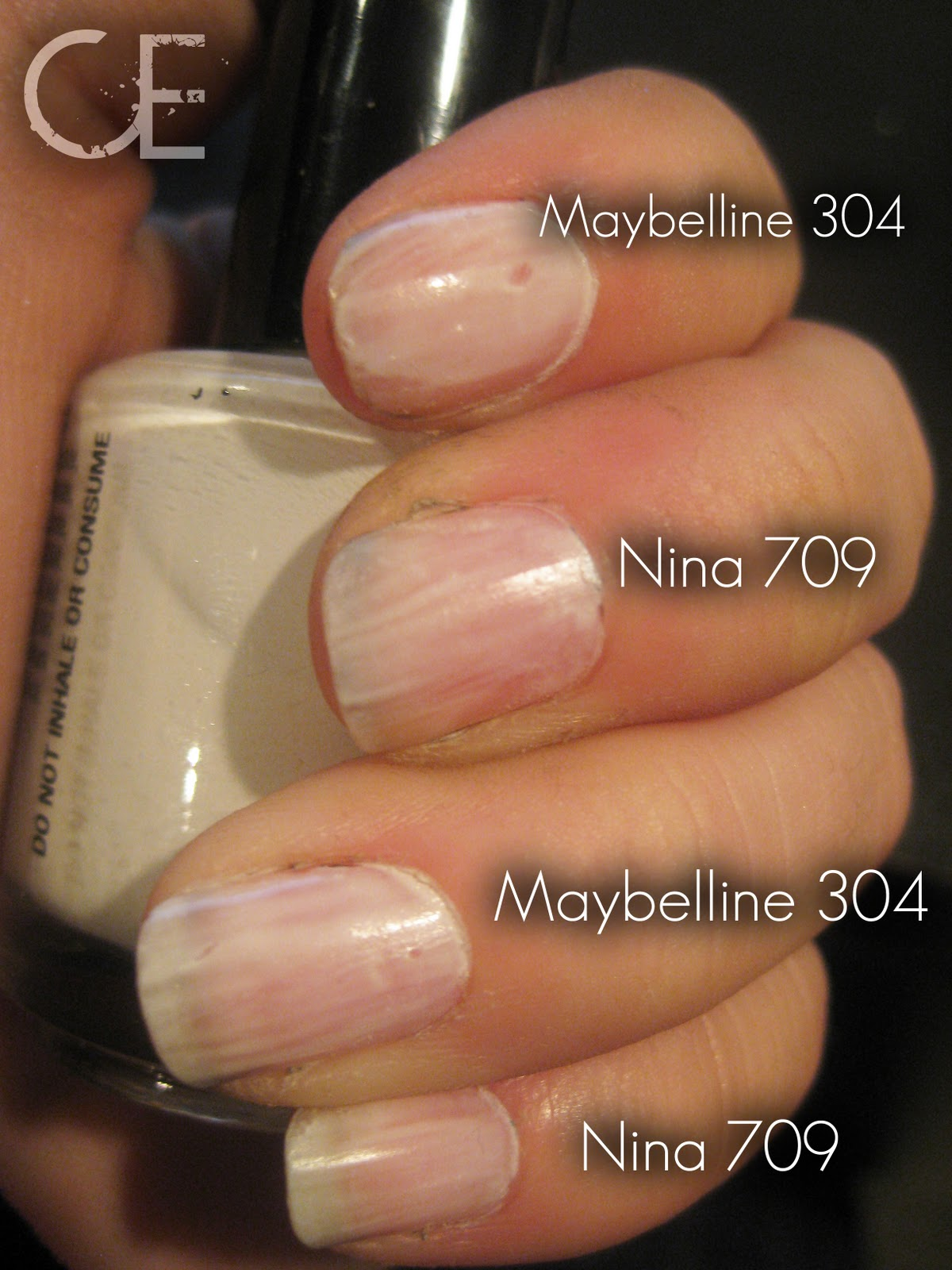 Makeup, etc!: Versus: White Nail Polish