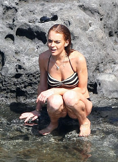 Lindsay Lohan and Ali Lohan hot bikini pictures from Maui