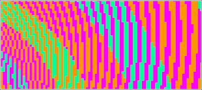 Espirales verde y azul zoom