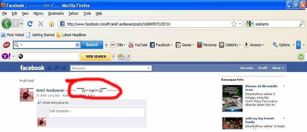 Status Simbol - Update Status Facebook Keren, Kreatif, Dan Unik