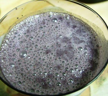 Gluten Free, Dairy Free Blueberry Hemp Smoothie