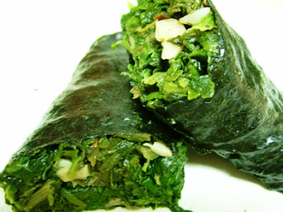 Gluten Free Dairy Free Vegan Spinach Seaweed Roll